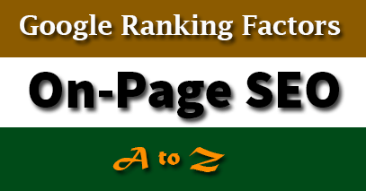 On-Page SEO Ranking Factors [2020]   A to Z Guide