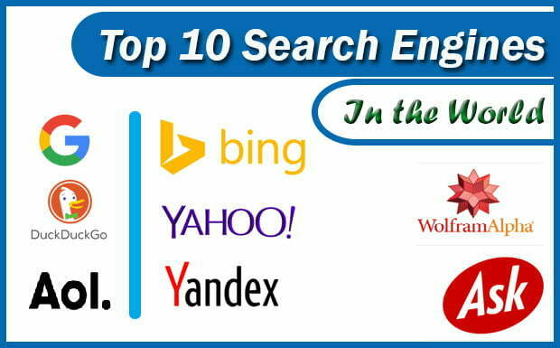 Top #10 Search Engines In The World (2021 Update )