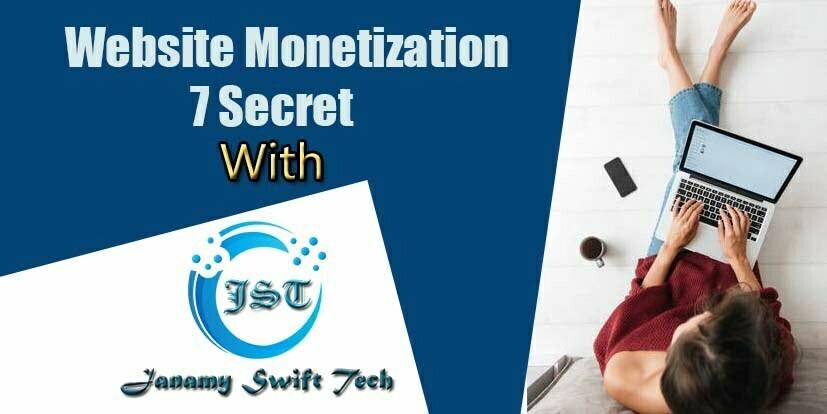 Monetize A Website 2021 - Make Money Online 2021 - Janamy Swift Tech