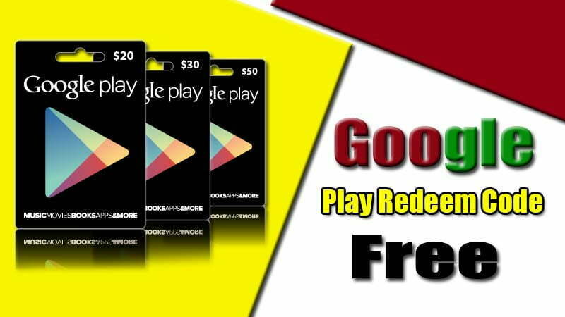 Free Google Play Redeem Codes 2021 How to Get Free Google Play Redeem Codes Giveaway