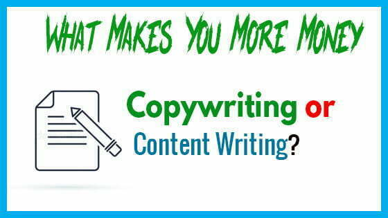 What Makes You More Money - Copywriting or Content Writing?