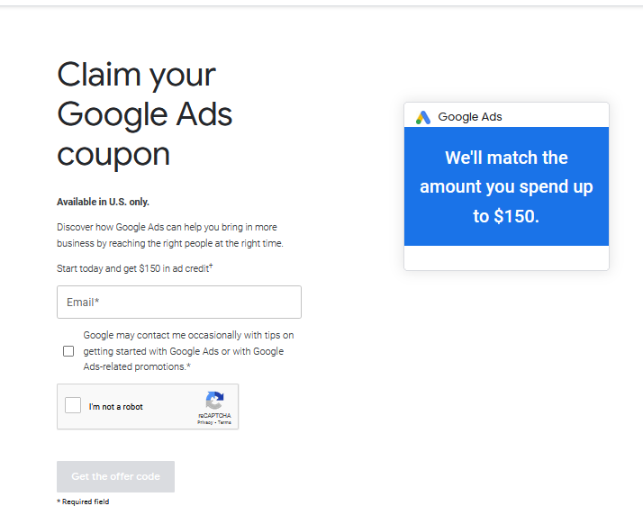 google adwards ads coupon