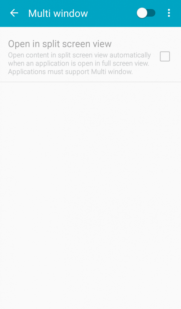 Click on the Multi window option.