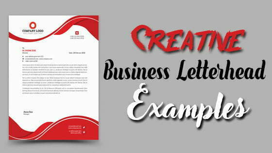Create Unlimited Creative Business Letterhead Examples
