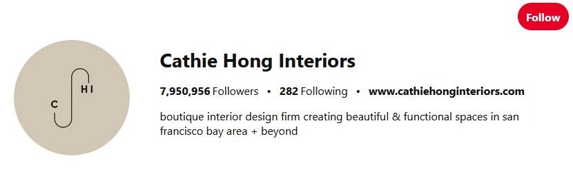 Cathie Hong Interiors Pinterest Influencers