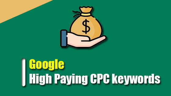 How do I know about Google high CPC keywords?