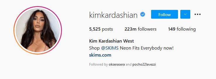 Instagram Influencers Kim Kardashian