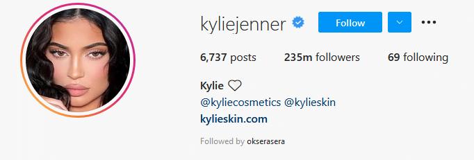 Instagram Influencers Kylie Jenner