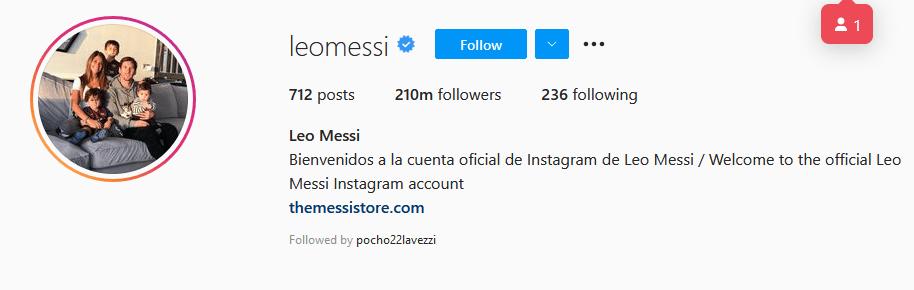Instagram Influencers Lionel Messi