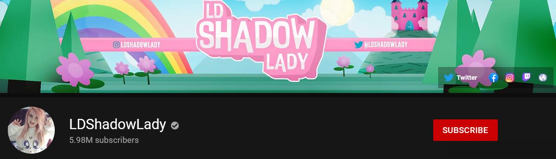 LDShadowLady Female Gamers On YouTube