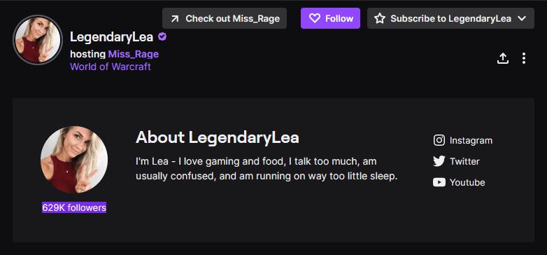 LegendaryLea twitch tv streamers