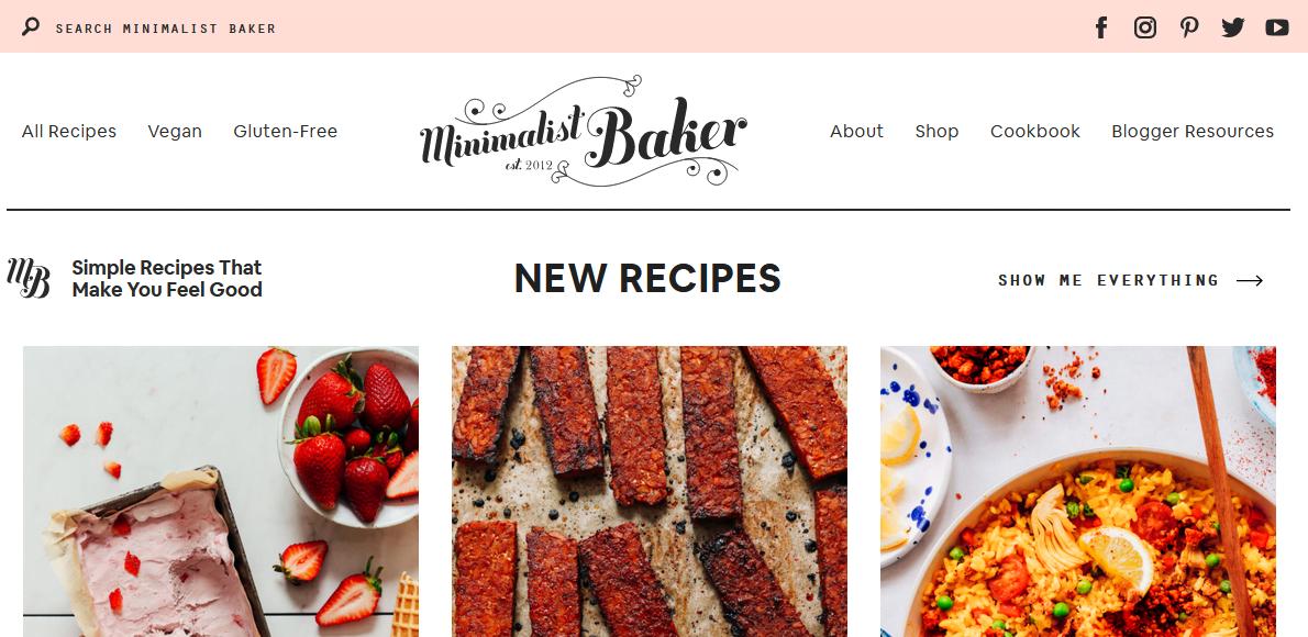Minimalist Baker food bloggers