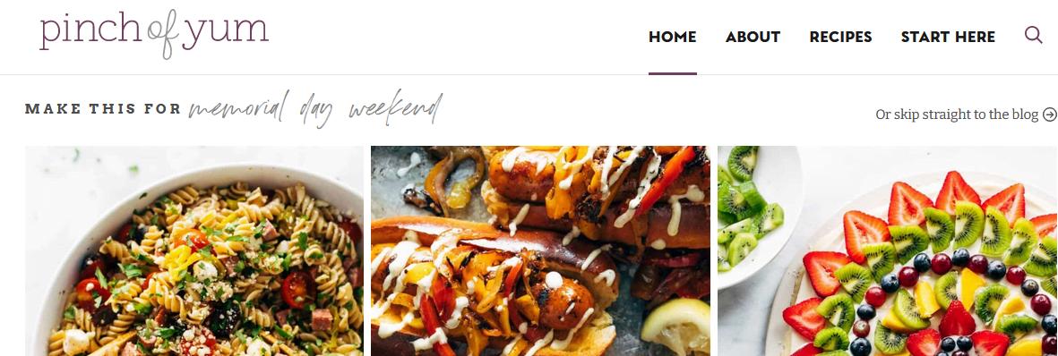 Pinch Of Yum food bloggers