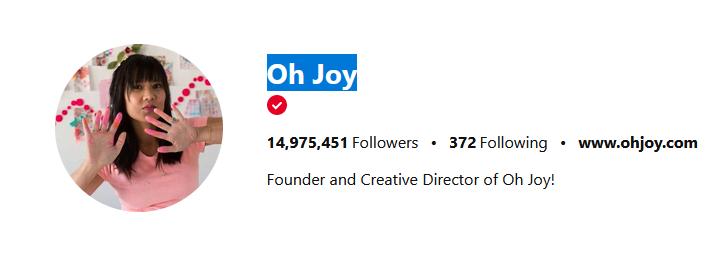 ohjoy Pinterest Influencers