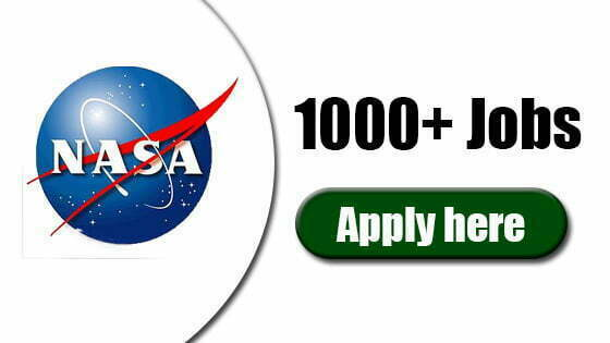 NASA 1000+ Jobs List Every Day Updates - Apply Here