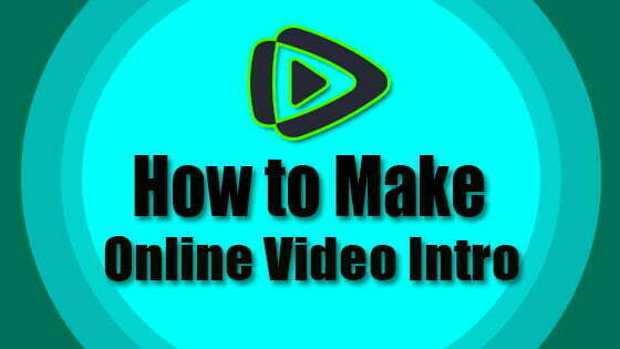 Online Video Intro Maker: YouTube, Facebook, Business Page