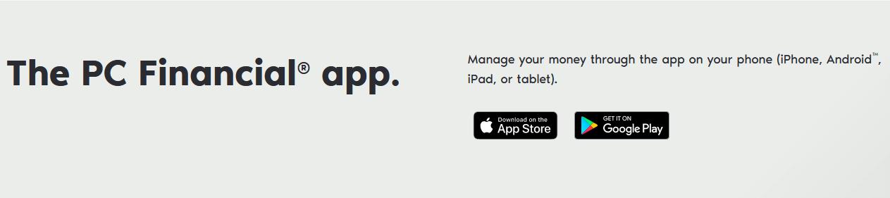 PC Financial Mobile App