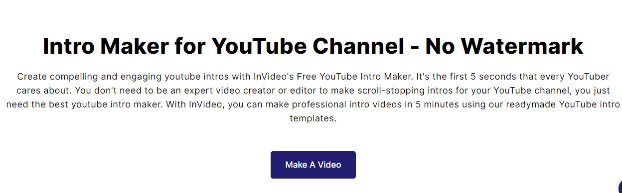 invideo online intro maker