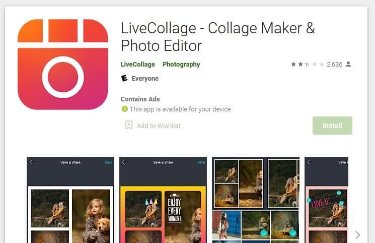 LiveCollage photo editor
