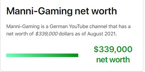 Manni Gaming Net Worth