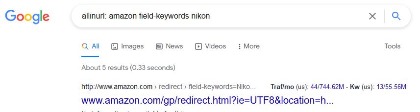 allinurl google search operators