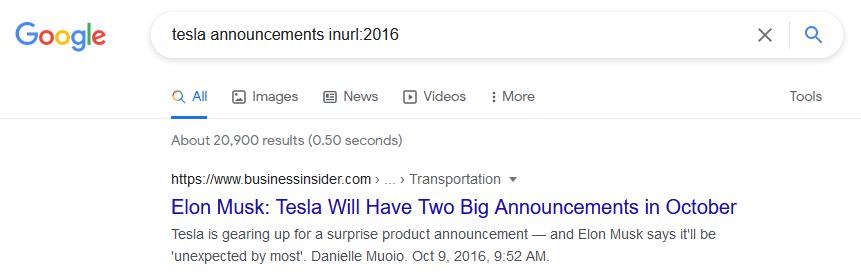 inurl google search operators
