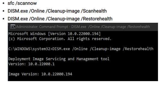 DISM Restore Health Windows