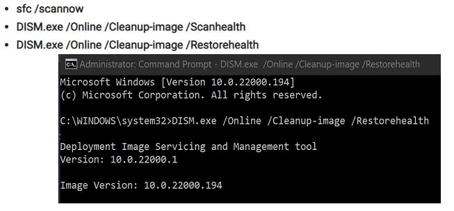 DISM RestoreHealth Windows 11